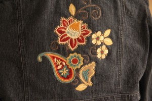 Looks great on my denim jacket!