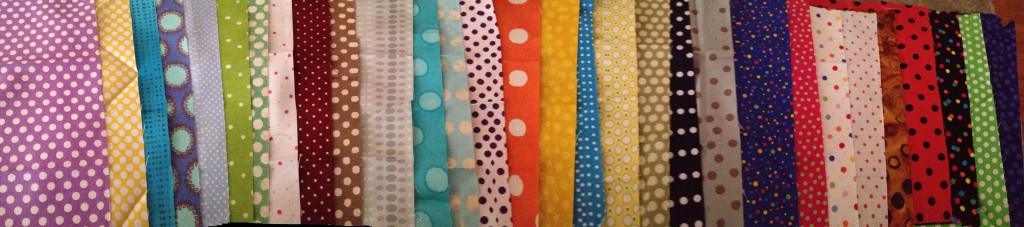 Your fabric should either be her or in the precious post!  All polka dot exchange fabric is shown...60 squares!