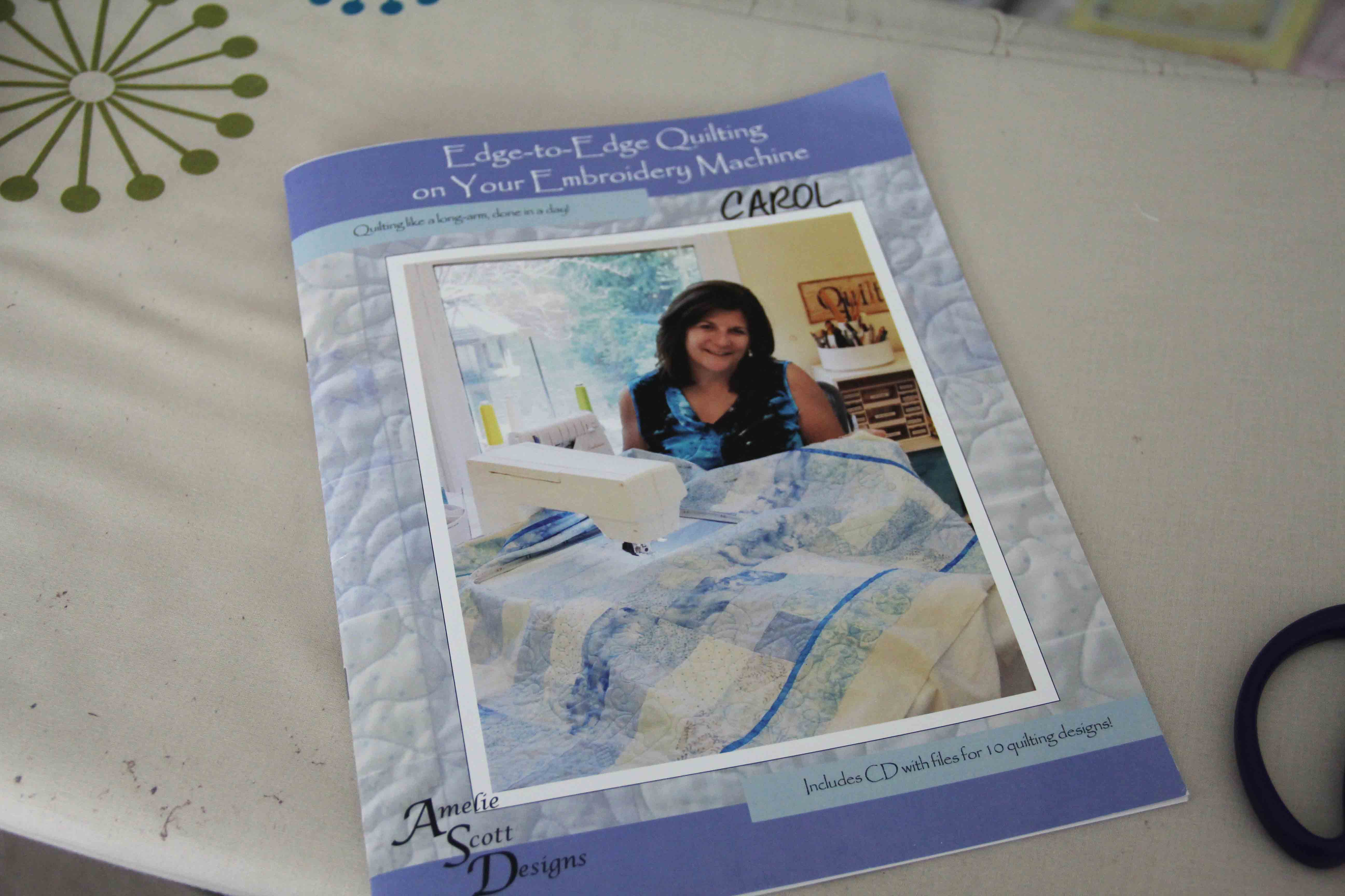 edge to edge quilting on embroidery machine