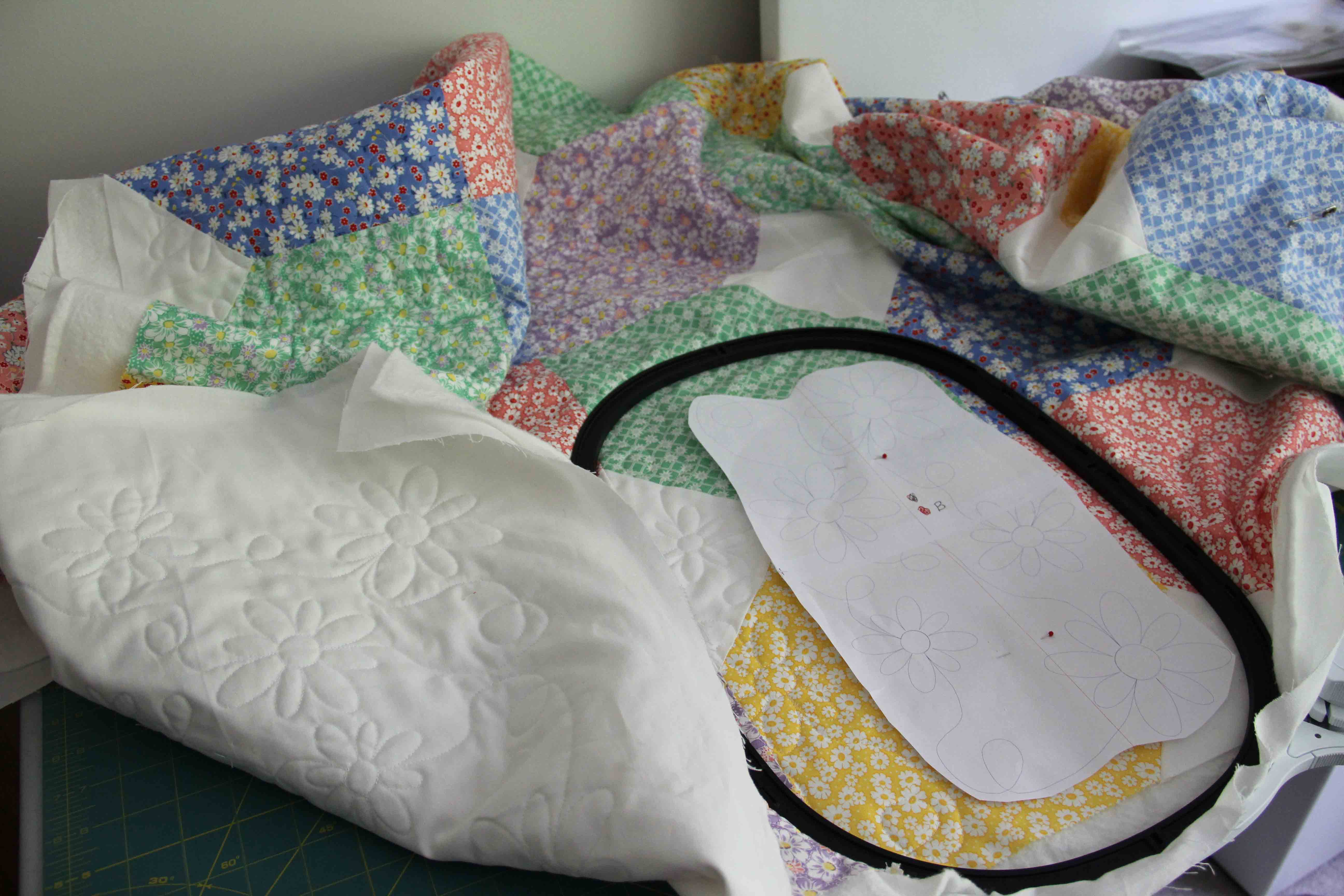 quilting on embroidery machine