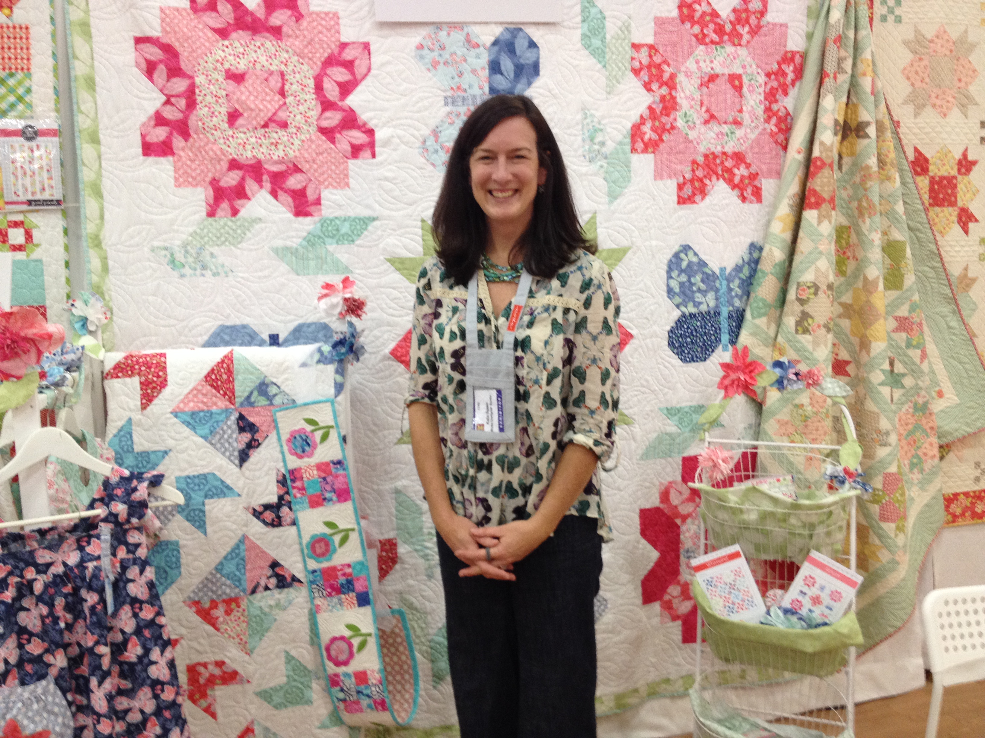 Kate Spain at her booth.  Another sweet, sweet lady!