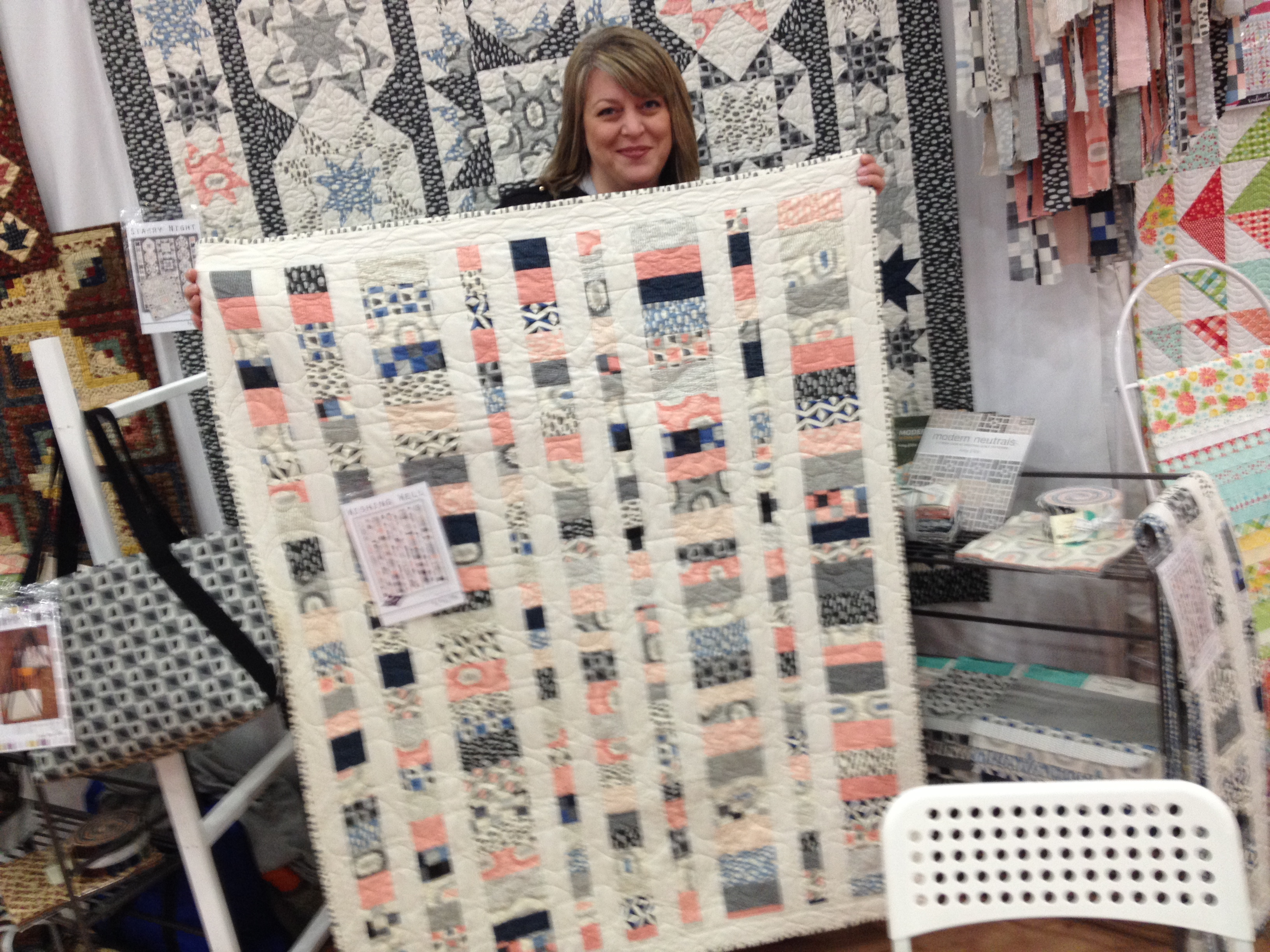Sweet Amy Ellis with her new line.  Loving the corals and greys.