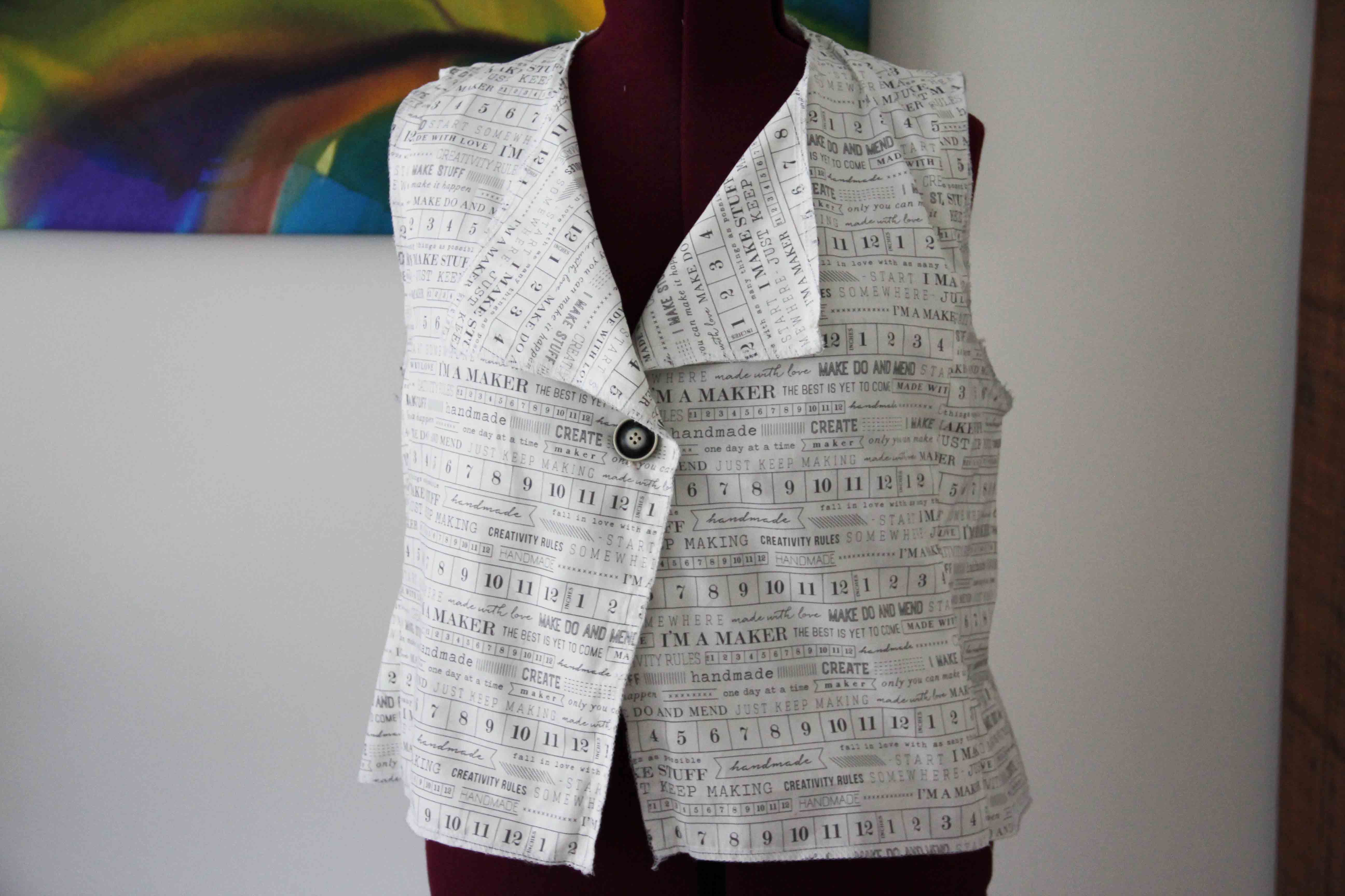 finished vest