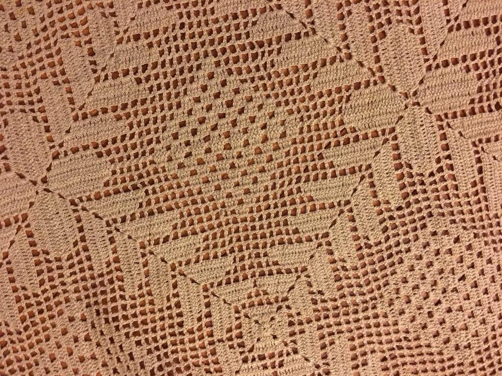 grandmas tablecloth detail